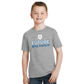 Youth Grey T-Shirt-Future Beta Theta w/Shield