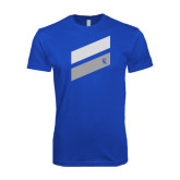 Next Level SoftStyle Royal T Shirt-Stripe Design