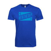 Next Level SoftStyle Royal T Shirt-Beta Theta Pi Triangles
