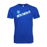 Next Level SoftStyle Royal T Shirt-Beta Theta Pi Diagonal