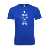 Next Level SoftStyle Royal T Shirt-Keep Calm and Go Beta