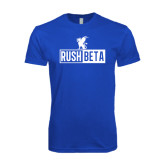 Next Level SoftStyle Royal T Shirt-Rush Beta Cutout