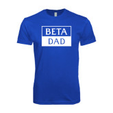 Next Level SoftStyle Royal T Shirt-Beta Dad Cut Out