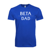 Next Level SoftStyle Royal T Shirt-Beta Dad Stacked