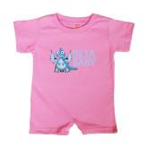 Bubble Gum Pink Infant Romper-Beta Baby