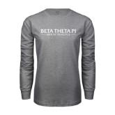 Grey Long Sleeve T-Shirt-Beta Theta Pi