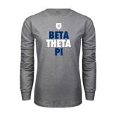 Grey Long Sleeve T Shirt-Stacked BTP