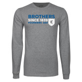 Grey Long Sleeve T Shirt-Brothers/Founders Day