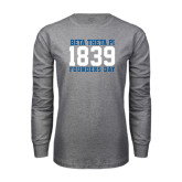 Grey Long Sleeve T Shirt-Founders Day 1839