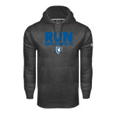 Under Armour Carbon Performance Sweats Team Hoodie-Run Beta Theta Pi w/ Shield Stacked
