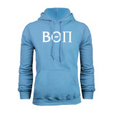 Light Blue Fleece Hoodie-Beta Theta Pi Greek Letters
