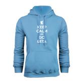 Light Blue Fleece Hood-Keep Calm and Go Beta