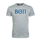 Next Level SoftStyle Heather Grey T Shirt-Beta Theta Pi Greek Letters