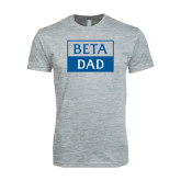 Next Level SoftStyle Heather Grey T Shirt-Beta Dad Cut Out
