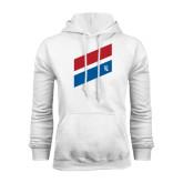 White Fleece Hood-Stripe Design