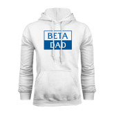 White Fleece Hoodie-Beta Dad Cut Out