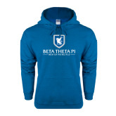 Heathered Sapphire Fleece Hoodie-Official Logo