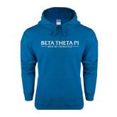 Heathered Sapphire Fleece Hood-Beta Theta Pi