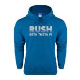 Heathered Sapphire Fleece Hood-Rush Lines Beta Theta Pi