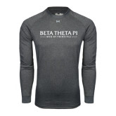 Under Armour Carbon Heather Long Sleeve Tech Tee-Beta Theta Pi
