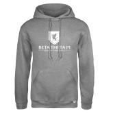 Russell DriPower Grey Fleece Hoodie-Official Logo