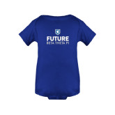 Royal Infant Onesie-Future Beta Theta w/Shield