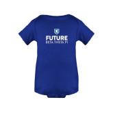 Royal Infant Onesie-Future Beta Theta w/Shield