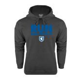 Charcoal Fleece Hood-Run Beta Theta Pi w/ Shield Stacked