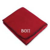 Red Arctic Fleece Blanket-Beta Theta Pi Greek Letters