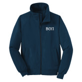 Navy Charger Jacket-Beta Theta Pi Greek Letters