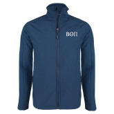Navy Softshell Jacket-Beta Theta Pi Greek Letters