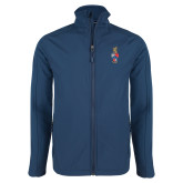Navy Softshell Jacket-Coat of Arms