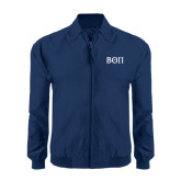 Navy Players Jacket-Beta Theta Pi Greek Letters