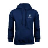 Navy Fleece Hood-Official Logo