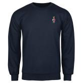 Navy Fleece Crew-Coat of Arms