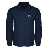 Full Zip Navy Wind Jacket-Beta Theta Pi Greek Letters