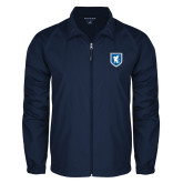 Full Zip Navy Wind Jacket-Official Shield
