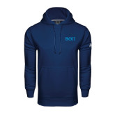 Under Armour Navy Performance Sweats Team Hoodie-Beta Theta Pi Greek Letters