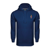 Under Armour Navy Performance Sweats Team Hoodie-Coat of Arms