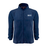 Fleece Full Zip Navy Jacket-Beta Theta Pi Greek Letters