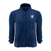 Fleece Full Zip Navy Jacket-Official Shield