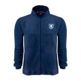 Fleece Full Zip Navy Jacket-Official Shield