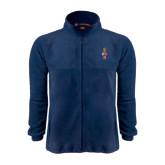 Fleece Full Zip Navy Jacket-Coat of Arms
