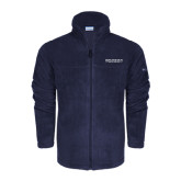 Columbia Full Zip Navy Fleece Jacket-Beta Theta Pi