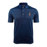 Navy Dry Mesh Polo-Coat of Arms