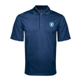 Navy Mini Stripe Polo-Official Shield
