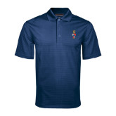 Navy Mini Stripe Polo-Coat of Arms