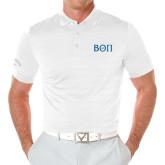 Callaway Opti Vent White Polo-Beta Theta Pi Greek Letters