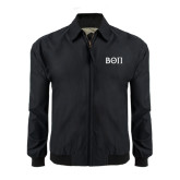 Black Players Jacket-Beta Theta Pi Greek Letters