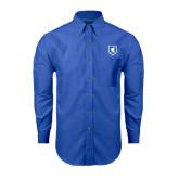 Mens Royal Oxford Long Sleeve Shirt-Official Shield